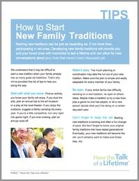 Family Tradition Activity