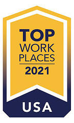 Logo for Top Workplaces 2021 USA