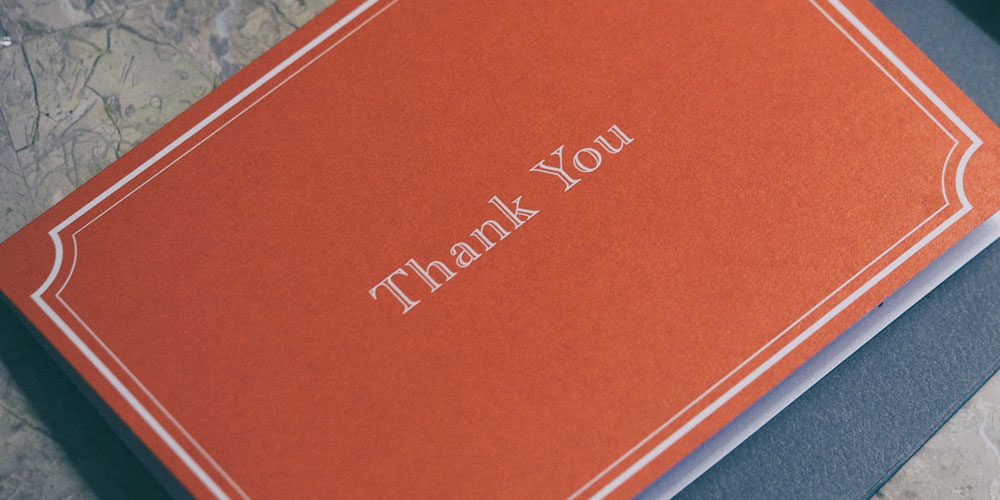 "Restore Balance: Read the ""Thank You"" Notes"